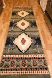 2x8 runner rug. 2x8 Runner Rug Southwest Southwestern Design Medallion Southern Lodge Green New L
