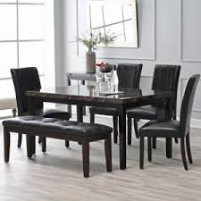 modern kitchen table set. Wonderful Modern Finley Home Milano 6 Piece Dining Table Set In Modern Kitchen E