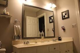 Bathroom Framed Mirrors Awesome Bathroom Charming Framed Bathroom Mirrors Design Ideas