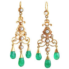 green and gold chandelier earrings 221 best emerald earrings images on