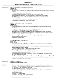 Engineer Quality Assurance Resume Samples Velvet Jobs