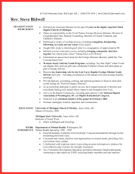 Ministry Resume Templates Lovely Youth Resume Sample At Best Sample