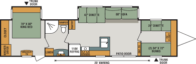 rv floor plans. 2018 K-Z RV Sportsmen 362BH Travel Trailer Floorplan Rv Floor Plans KZ