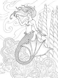 Mermaid Coloring Page Printable By Dover Publications Coloring