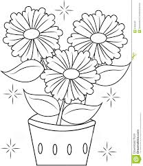 Small Picture Flower Pot Coloring Page Printable Archives New Flower Pot