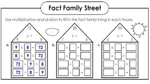 Math Worksheets Fact Families | Kiddo Shelter