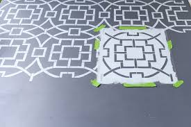 Painting Cement Floors Create Cement Tile Look With Stencils