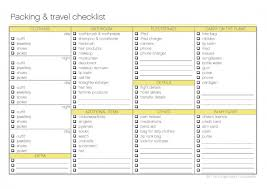Free Printable - Packing and Travel Checklist - The Organised ...