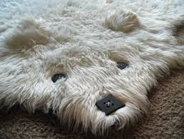 faux bear skin rug for nursery