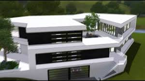 Ultra Modern Houses The Sims 3 House Ultra Modern Bw Mansion Hd Youtube