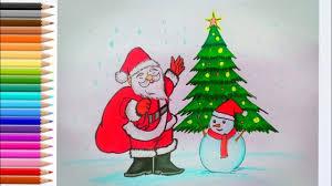 วาดภาพวันคริสต์มาส How to draw Merry Christmas - YouTube