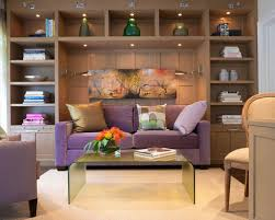 sofa for office. inspiration for a contemporary dark wood floor home office remodel in miami sofa