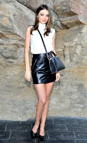 what to wear with black leather skirt outfit ideas 2019