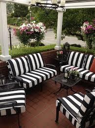 black and white striped patio chair cushions black patio chair cushions
