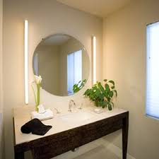 Modern bathroom mirrors Pinterest Bathroom Mirror Lighting From The Side Interiordeluxecom Modern Bathroom Lighting At Interiordeluxecom
