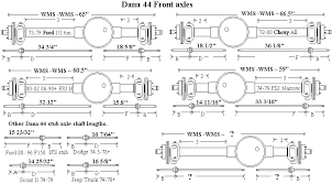 Chevy Axle Width Chart Wagoneer Front Axle Width 4x4 Vehicles Diagram