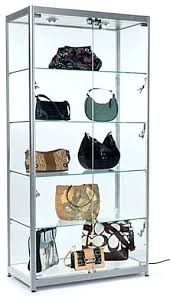 aluminum frame display cases lock to keep merchandise secure locking cabinet small lockable glass silver secures glass locking display cabinet