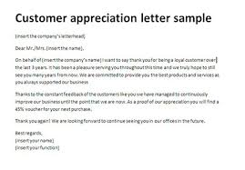 thank you letter appreciation customer appreciation letter sample thank you client letter