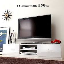 back storing tv stand 150cm in width movable shelf tv stand shin pull tv rack low
