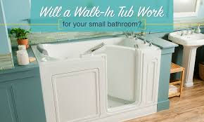 will a walk in tub work for your small bathroom written by american standard