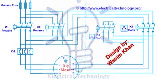 three phase motor connection star delta (y Δ) reverse forward Three Phase Power Wiring Diagram three phase motor connection star delta (y Δ) reverse forward with timer power & control diagram electrical technology three phase power wiring diagram