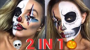 4 half clown half skeleton makeup