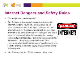 acr major assignments ppt  internet dangers and safety rules
