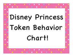 Disney Princess Behavior Chart Disney Princess Token Behavior Chart