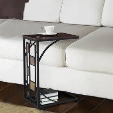 sofa table end tall c shaped table for sofa design astonishing c shaped table