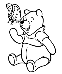 Lovely Classic Pooh Bear Coloring Pages