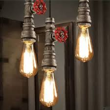 loft style water pipe lamps retro pendant light fixtures vintage industrial lighting for living dining room antique industrial lighting fixtures