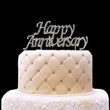 Happy Anniversary Cake Topper First 10th 20th 25th 30th 40th 50th