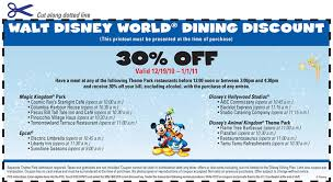 wdw dining discounts