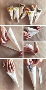 How To Make Paper Cones For Flower Petals Paper Cones For Throwing Rice Or Flower Petals
