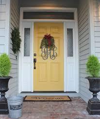 white front door yellow house. Fabulous Fantastic Yellow House Front Door Color Nate Meg New Gray Cilif.com White E