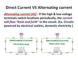 alternating current vs direct current. direct current vs alternating vs n
