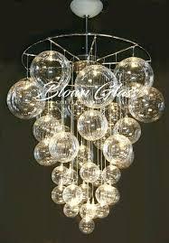 hand blown lighting. Blown Glass Chandelier Celestial Molecules Hand Lighting