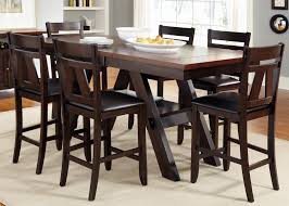 bar height dining table within 7 piece trestle gathering with counter chairs set by remodel 15
