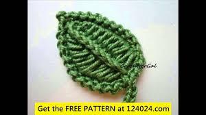 Crochet Leaf Pattern Free