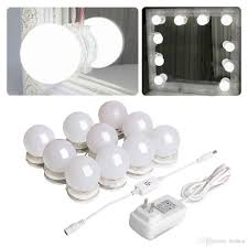 Diy Light Kit 2019 Hollywood Mirror Light Kit With Dimmable Light Bulbs For Makeup Dressing Table Diy Led Vanity Lighting Strip With Quality Adhesive 10 Lights From