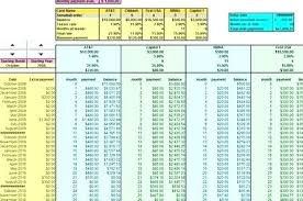 Credit Card Payment Tracker Credit Card Amortization Excel Debt Snowball Excel Spreadsheet