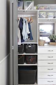 drawers in closets instead of a dresser