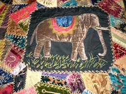 crazy+quilt | is for Quilter » Blog Archive » Antique Victorian ... & crazy+quilt | is for Quilter » Blog Archive » Antique Victorian Crazy Quilt  elephant Adamdwight.com