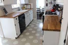 Linoleum Kitchen Floors A Warm Conversation Work With What You Got Painted Kitchen Floors