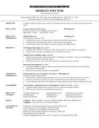 Resume Samples Civil Engineering Education Requirements Industrial