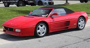 Der ferrari 348 ist ein von 1989 bis 1995 gebauter sportwagen des italienischen herstellers ferrari. 1993 Ferrari 348 Spider 3 4 V8 320 Hp Technical Specs Data Fuel Consumption Dimensions