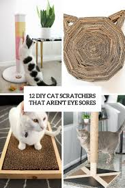 12 diy cat scratchers that aren t eye