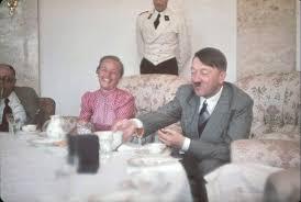 Hitler makes wife of Gauleiter Albert Forster, Gertrud Deetz, laugh at the  Berghof, Hitler's home in the Obersalzberg, 1939 [1157x779] : HistoryPorn