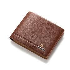 designer luxury men purse money for men bifold wallet best mens wallet brands black leather wallet baellerry with metal logo
