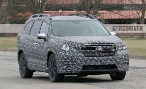 2018 subaru third row. wonderful 2018 2018 subaru ascent threerow crossover spy photos u2013 news car and driver inside subaru third row